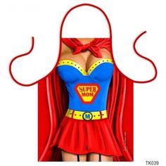 Vicces szakács kötény, Super Mom Girl M, Super Mom, Supergirl, Apron, Bra, Fashion, Moda, Fashion Styles, Bra Tops