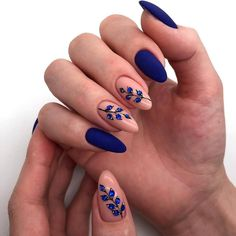 50 stunning matte blue nails acrylic design for short nails - . - 50 stunning matte blue nails acrylic design for short nails - - Matte Acrylic Nails, Acrylic Nail Designs, Nail Art Designs, Nails Design, Acrylic Art, Acrylic Nails With Design, Acrylic Nails For Fall, Blue Nails With Design, Short Nails Acrylic