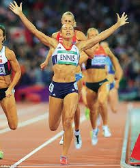 Thanks to Jessica Ennis, winner of the 2012 Olympics women's heptathlon, British women would now much rather be athletic than skinny. What do YOU think ? Athletic Looks, Athletic Body, Athletic Women, Jessica Ennis Hill, Jess Ennis, Female Athletes, Women Athletes, Heptathlon, Celebrity Film