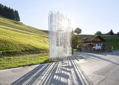 Architect-designed bus stops in Krumbach photographed by Hufton + Crow – Bränden bus stop by Sou Fujimoto.