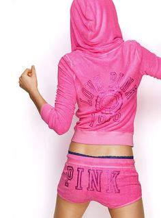 7f7b05a5ab Bling Beach Terry Zip Hoodie  amp  Shorts - Victoria s Secret Pink®.  Everything is