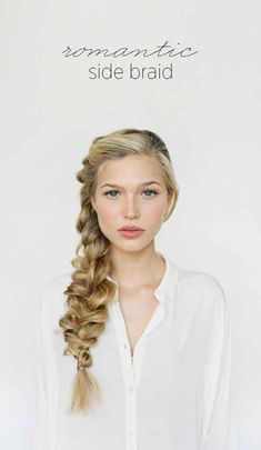The Side Braid   31 Gorgeous Wedding Hairstyles You Can Actually Do Yourself