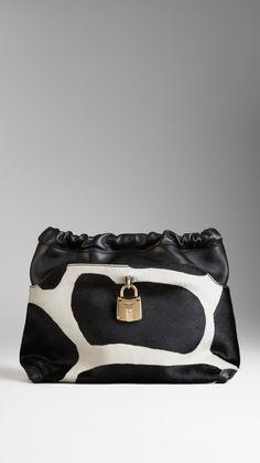 Burberry Little Crush calfskin clutch