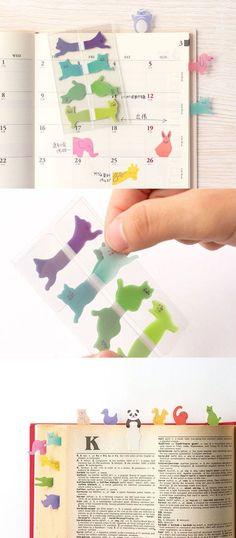 Animal Tracing Index Sticky Note Set