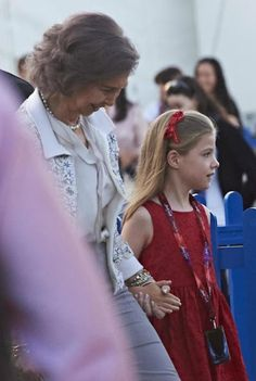 """On May 23, 2015, King Felipe of Spain, Queen Letizia of Spain and Princess Leonor of Spain, Princess Sofia of Spain and Queen Sofía attended to the First Communion of Beltrán Gómez Acebo's children and later on they attended the """"Cirque du Soleil"""" spectacle in Madrid, Spain."""