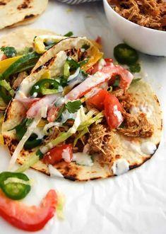 Pork Carnitas Tacos (Slow Cooker Pork Tacos)