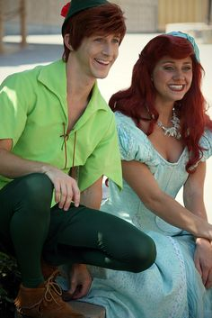 Peter from Peter Pan and Ariel from The Little Mermaid