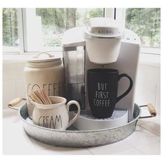For a dorm Target Home Decor, Cheap Home Decor, Ikea Kitchen, Kitchen Decor, Kitchen Ideas, Keurig Station, Bar Station, Target Dorm, Coffee Cream