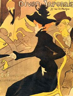 Divan Japonais by Henri de Toulouse-Lautrec - Divan Japonais is a poster that the Impressionist Henri de Toulouse-Lautrec designed for a Paris cafe. Learn about Toulouse-Lautrec's Divan Japonais. Retro Poster, Poster Art, Kunst Poster, Vintage Posters, Vintage Art, Poster Prints, Art Posters, French Posters, Theatre Posters