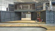 Bicycle expo center of shipping container exhibition hall | Pop-Up container coffee bar | Container restaurant | Shipping container homes | Container house