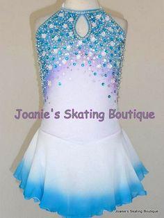White dip-dye dress with blue/purple beading