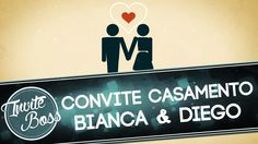 Convite Animado Casamento (Sombra) - Bianca e Diego
