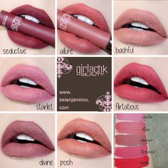 LIPS » GIRLACTIK Matte Lip Paint • MIMO BEAUTY