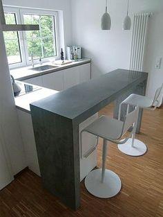 """küchen-theke"" beton. jörg sander / planC"