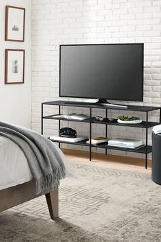 Slim Media Console Rooms Furniture, Modern Living Room Furniture, Modern  Living Rooms, Furniture