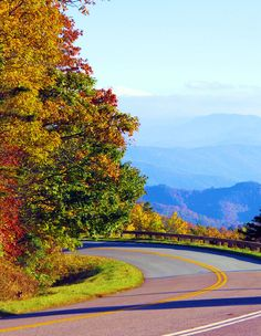 Blue Ridge Parkway in the North Carolina mountains