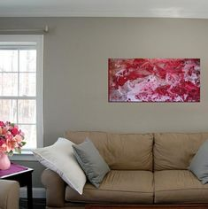 Contemporary Modern Abstract Art Painting, Abstract Painting Red Black Canvas Modern Wall Home Decor, Modern Painting on Canvas Original Art Abstract Canvas Art, Acrylic Painting Canvas, Painting Art, Art Paintings, African Artwork, Modern Art Movements, Watercolor Artists, Abstract Photography, French Art