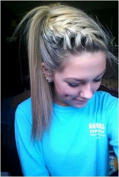French Braid with High Ponytail: Cute Hairstyles for School