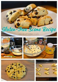 I recently bought a giant bag of organic almond flour at Costco and started researching what I could do with it. After finding dozens of muffin and scone recipes online, I came up with with. Gluten Free Breakfasts, Gluten Free Desserts, Dairy Free Recipes, Dessert Recipes, Scone Recipes, Healthy Breakfasts, Diet Recipes, Gluten Free Scones, Gluten Free Baking
