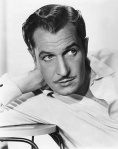 Vincent Price-- what helps with the scaryness is he to good looking to be bad. Right?