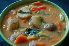 Po prostu weganizm: Zupa warzywna z kokosem a la Sambar Cheeseburger Chowder, Soup, Soups