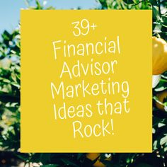 Marketing and prospecting are huge benefits to your practice. Learn 39 financial advisor marketing ideas that rock so that you can GROW your income! Marketing Tactics, Marketing Ideas, Business Marketing, Online Business, Financial Success, Stock Advisor, Life Insurance Agent, Insurance Marketing