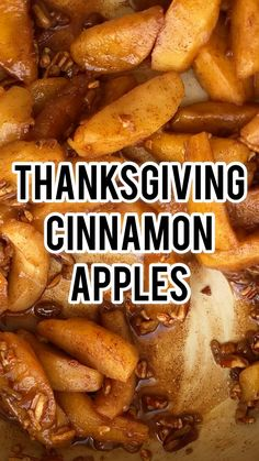 Thanksgiving Cinnamon Apples (SIDE DISH)