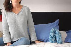 Ravelry: Simple Summer Tweed Top Down V-Neck pattern by Heidi Kirrmaier