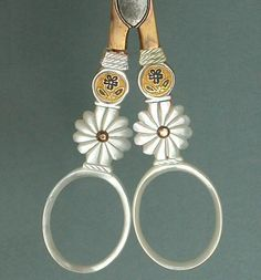 Antique PALAIS ROYAL Mother of Pearl Scissors w/ Pansies * Circa 1810-20   Antiques, Sewing (Pre-1930), Tools, Scissors & Measures   eBay!