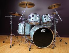 DW Collector's Series 4-Piece Shell Pack in Blue Oyster Finish - DW's flagship Collector's Series is the original American-made custom drum set. Our Sales Pros have pre-configured this kit for you, so you'll be ready to rock.