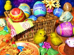 Easter Eggs jigsaw puzzle in Kids Puzzles puzzles on TheJigsawPuzzles.com