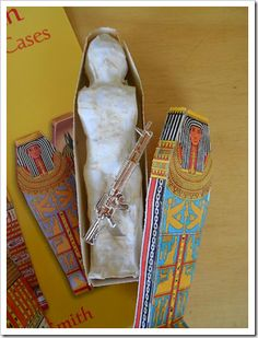 Mystery of History - Make a mummy out of an action figure.plus source for punch out mummy case Ancient Egypt Crafts, Egyptian Crafts, Egyptian Art, Egyptian Makeup, Egyptian Mummies, Egyptian Costume, Tapestry Of Grace, 6th Grade Social Studies, My Father's World