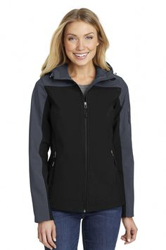 cbed6c1a6659 An attached hood and bold colorblocking give this well-priced