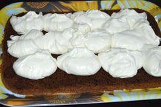 Prajitura cu crema de ciocolata alba | MiremircMiremirc Cooking Recipes, Pudding, Desserts, Food, Tailgate Desserts, Deserts, Chef Recipes, Custard Pudding, Essen