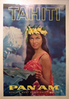 Travel Vintage Tahiti Pan Am Poster