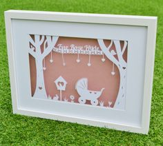 Paper Cut Template Personalised New Baby Totally templates  https://www.totallytemplates.co.uk/product/new-baby-trees/