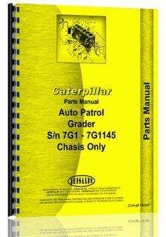 Caterpillar Auto Patrol Grader Parts Manual