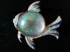 Vintage Coro Craft Signed Jelly Belly Sterling Lucite Large Angel Fish Brooch | eBay