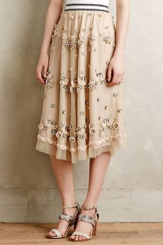 Sakura Embellished Skirt by Not So Serious #anthropologie #anthroregistry