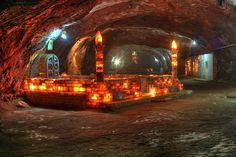 Mosque inside the salt mine made totally out of Himalayan Crystal Salt.