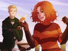 Scorpius and Rose by nymre