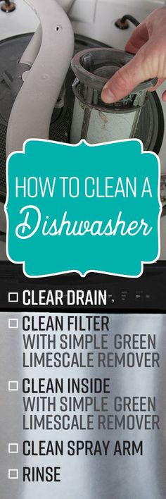 To remain in full working order, it needs a thorough cleaning once a month. Doing this will help prevent mineral deposits and hard water stains, as well as musty odors from accumulated grease, food debris and soap scum. Homemade Cleaning Supplies, Cleaning Recipes, House Cleaning Tips, Diy Cleaning Products, Cleaning Solutions, Deep Cleaning, Spring Cleaning, Cleaning Hacks, Diy Cleaners