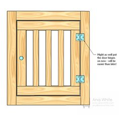 Large Wood Pet Kennel End door.to make for the built in kennel for the dogs in kitchen.
