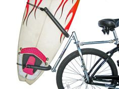 Buy Surfboard Bike rack Moved by Bikes surfboard rack longboard at online store Surfboard Bike Rack, Mobiles, Kayak Storage Rack, Garage Storage, Surfing Pictures, Homemade Tools, Surfs, Bike Accessories, Surf Girls