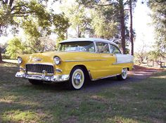 1955 Chevy Bel Air! my real dad had one of these! I have one pic of me on it when I was a baby when back when lol
