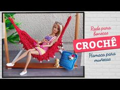 Barbie House Furniture, Doll Furniture, Sewing Barbie Clothes, Doll Clothes, Crochet Hammock, Doll Videos, Crochet Needles, Baby Alive, Barbie Accessories