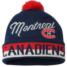 For Nixon   Youth Montreal Canadiens CCM Navy Blue Vintage Retro Cuffed Hat  with Pom Nhl ebc42bb02