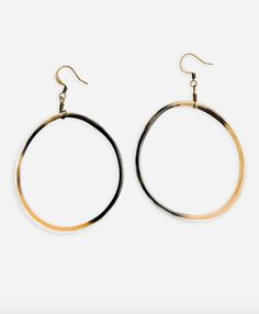 Fair Trade, Jewelry, Uganda, Cow Horn Hoops, Large, Earrings, Ethically Harvested Cow Horn, Noonday Collection.