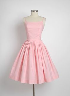 HEMLOCK VINTAGE CLOTHING : 1950's Bobbie Brooks Pink Cotton Dress
