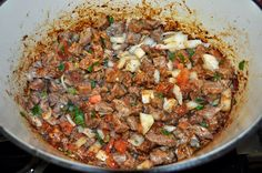 Carne Guisada - You can serve this with rice, or beans or make some great tacos! I love breakfast tacos made with some carne guisada, scrambled egg and cheese! Carne Guisada is a Mexican inspired take on beef stew. Mexican Cooking, Mexican Food Recipes, Guisada Recipe, Cooking Tofu, Cooking Games, Frozen Steak, Cooking Light Recipes, Carne Asada, How To Cook Eggs